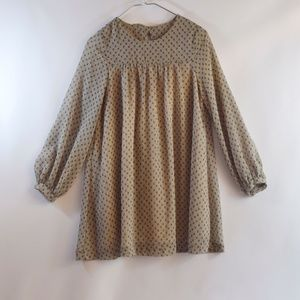 Peppermint Putty Pleated Smock Top -size small
